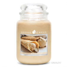 Goose Creek Premium Large Round Scented Candle Jar PEANUT BUTTER SUGAR Dual Wick